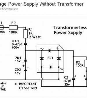 Transformerless Power Supply Circuit Electronics Repair And