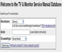 tv service manuals