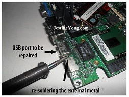 laptop usb port repair