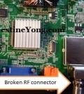 lcd tv rf connector repairings
