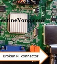 lcd tv rf connector repairings