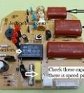 ceiling fan capacitor repairings