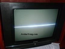 tv one horizontal line repairs