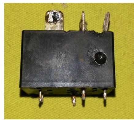 burnt relay
