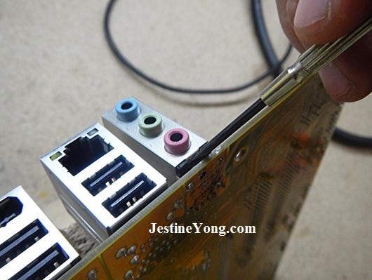 pc audio connector repairings
