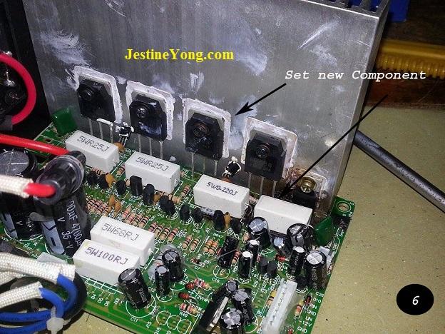 Repairing speaker amp