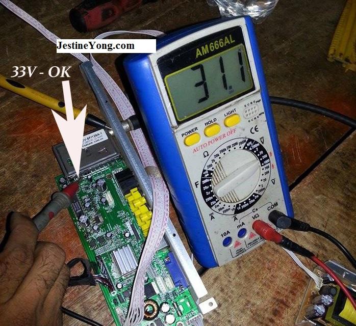 repair lcd tv board