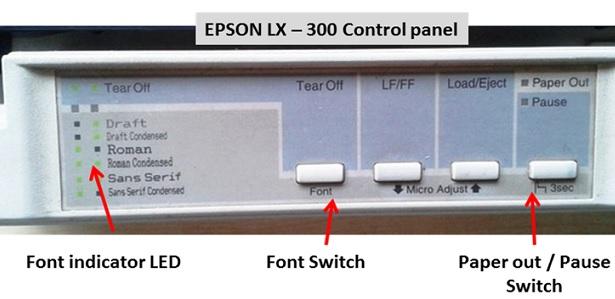 epson lx-300 printer repair