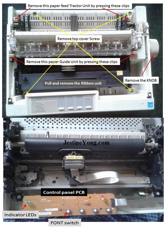 epson lx300 printer repair3