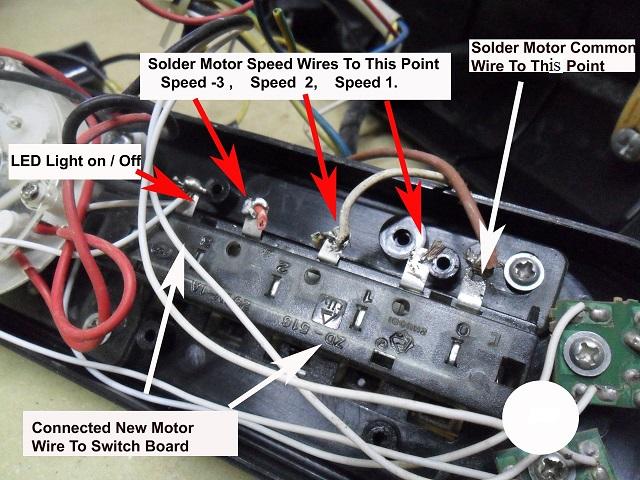 fan control button wiring