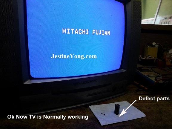 white screen in crt tv