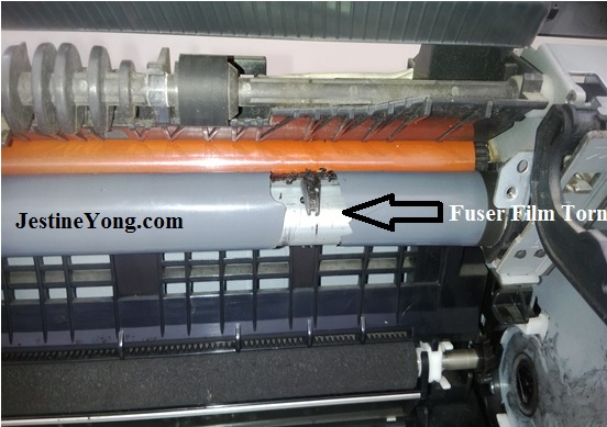 hp 1012 fuser film repair