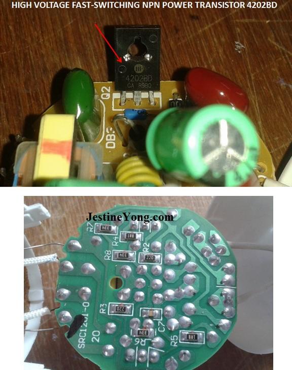 how to repair cfl bulb circuit