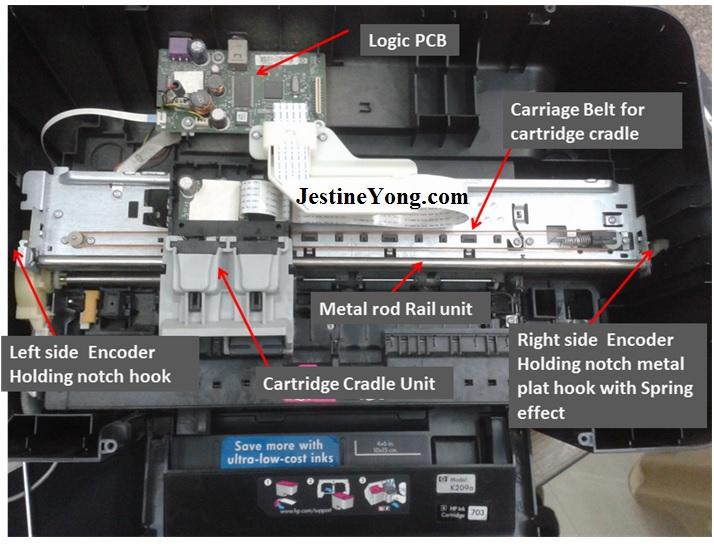 hp deskjet k209a repair