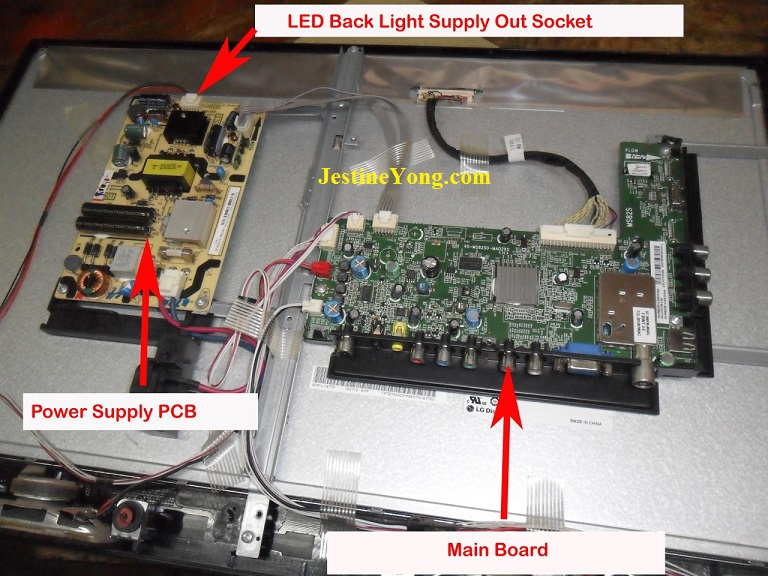 how to repair led tv no picture