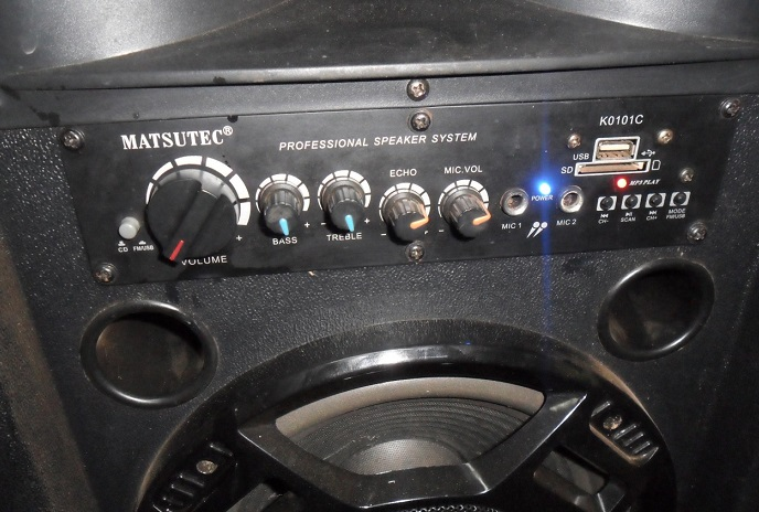 how to repair matsutec active speaker amp