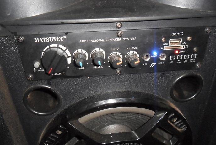 how to repair matsutec active speaker amp