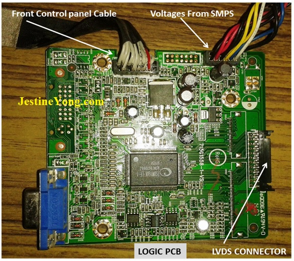 lcd monitor with hazy display repaired electronics repair and rh jestineyong com Circuit Board Troubleshooting Circuit Medics