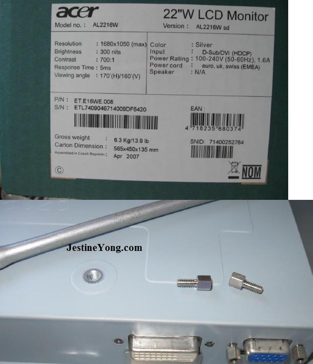 acer lcd monitor repair