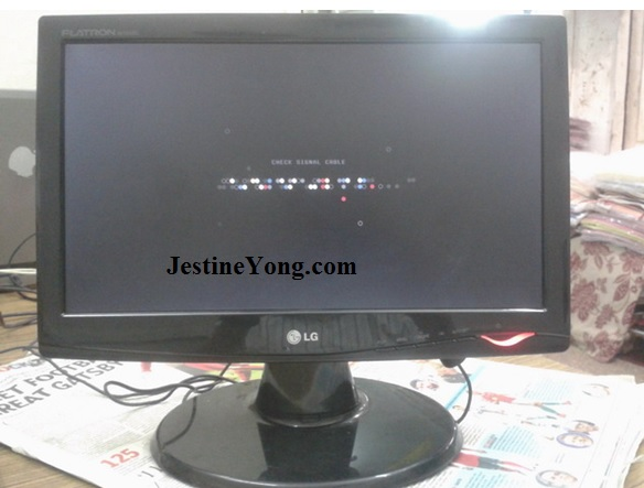 lg monitor no display