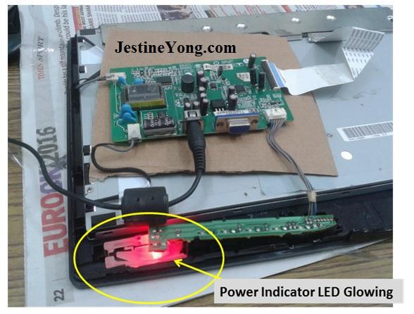repairing lg monitor circut board