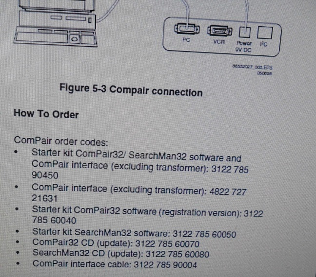 philips compair eeprom set up