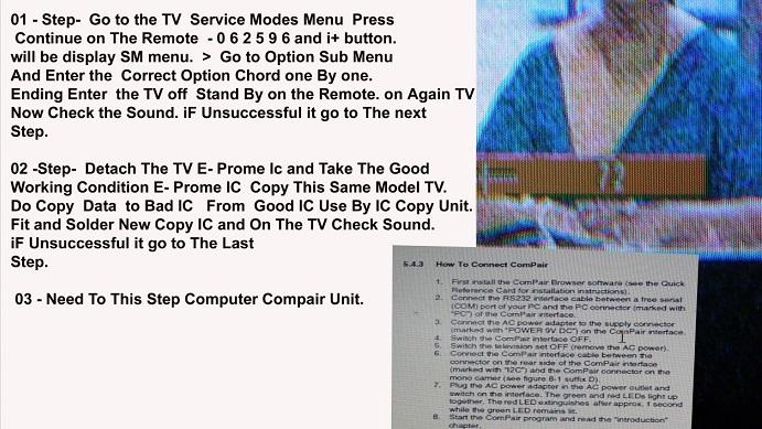 tv no sound fault