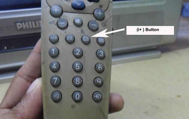 tv remote control service mode