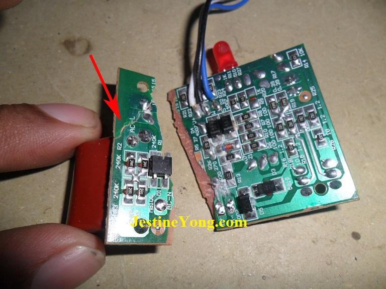 Broken Circuit Board Fixed