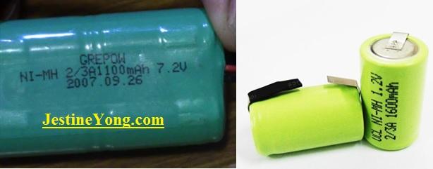 battery ni-mmh replace
