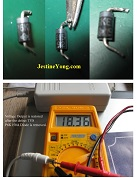 test p6ke150a transcient diode