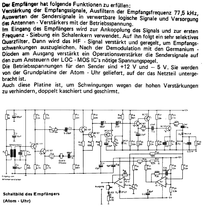 time pulse receiver circuit