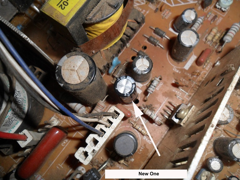 how to repair one horizontal line fault