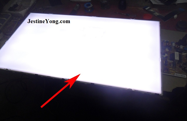 how to repair led tv backlight