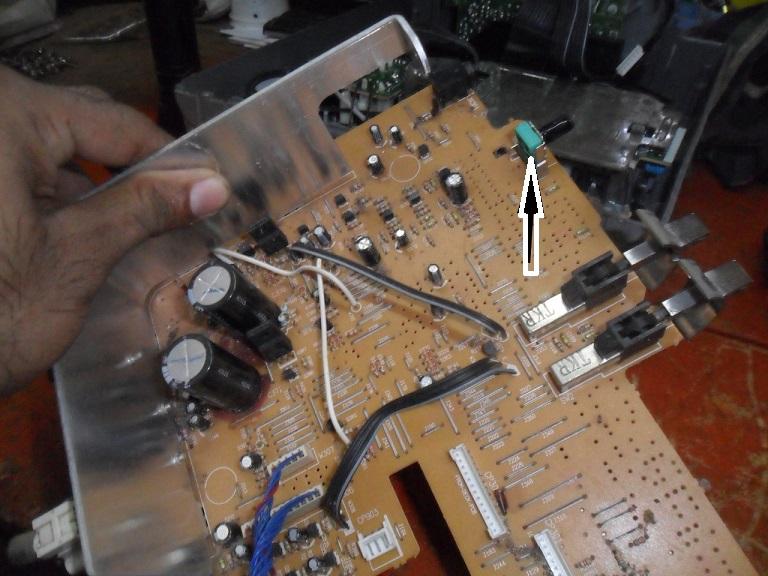 panasonic rx-vt80 volume problem repair