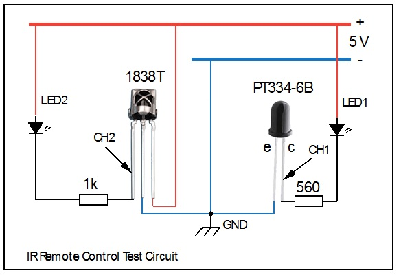 ir remote control test circuit