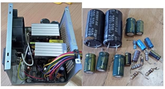 atx power supply fixing