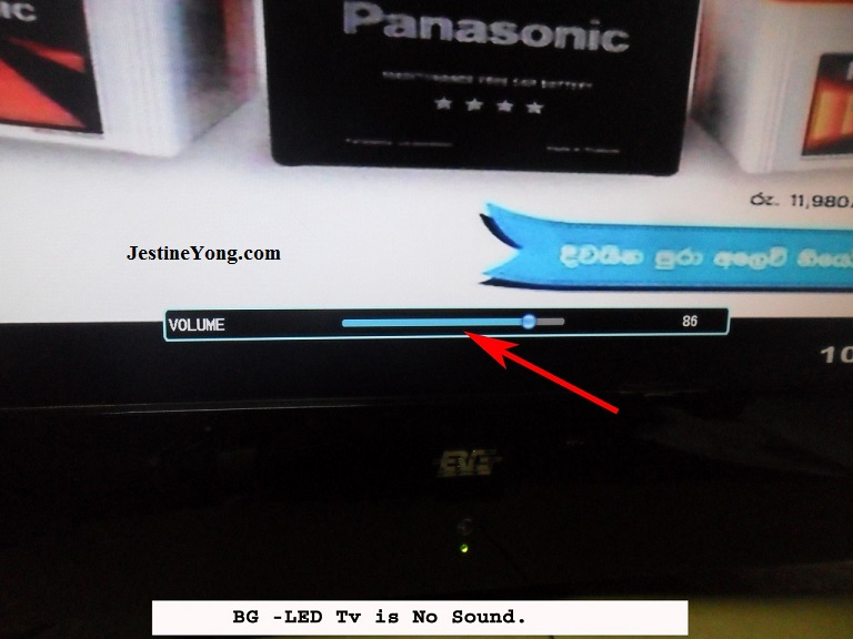 led tv no sound
