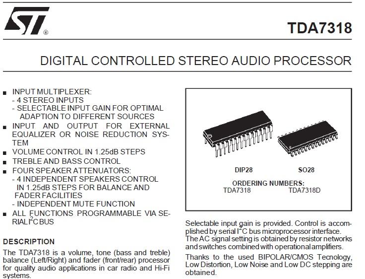 tda7318d datasheet