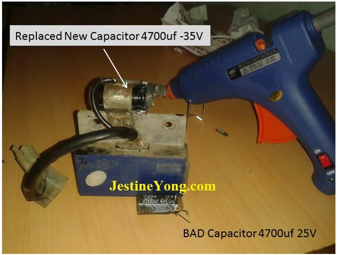 motorbike capacitor value 4700uf 25 volt