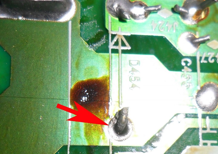 shorted diode in crt tv