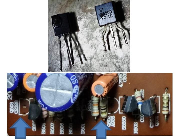 bad transistor in tv