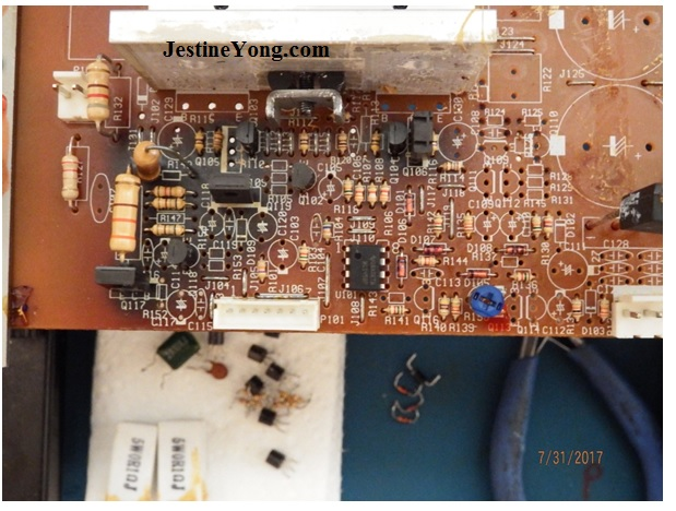 subwoofer circuit board repair