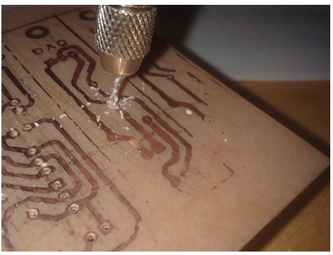how to drill pcb