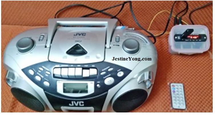 how to fix and repair jvc three in one usb, cd player and cassette player