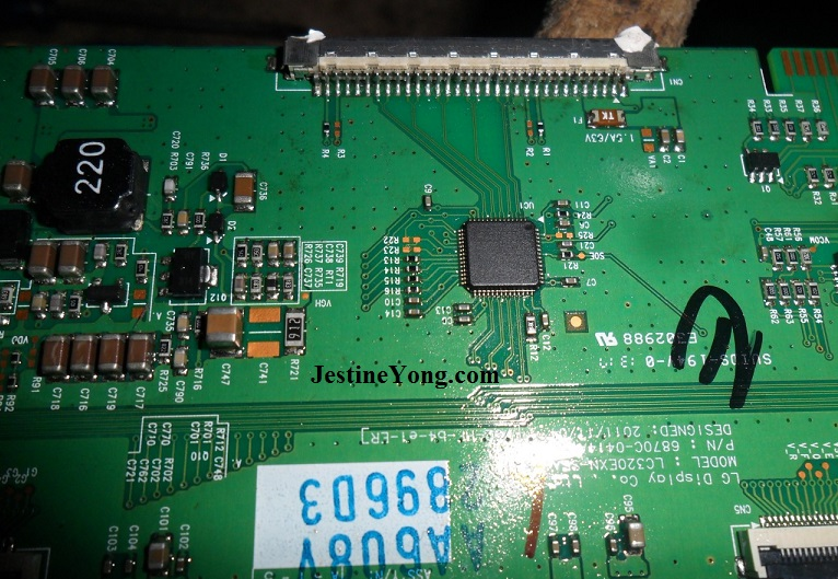 how to repair and fix led tv tcon board