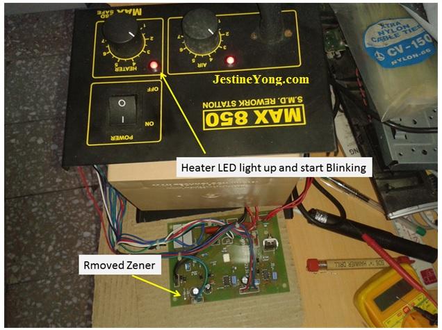 max850 rework station repair