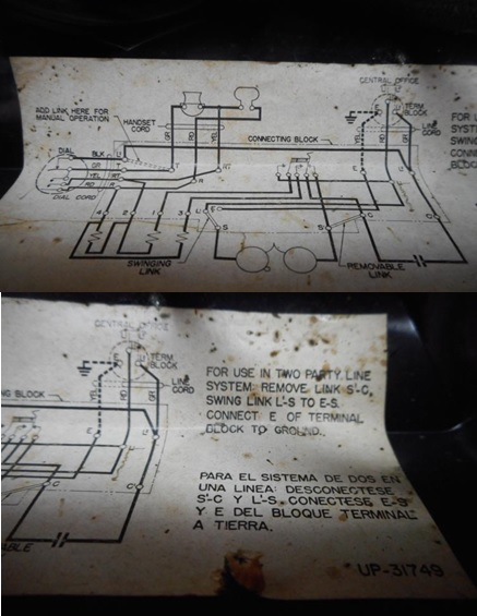 old telephone schematic diagram