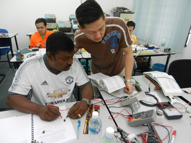 group discussion in electronic Repair