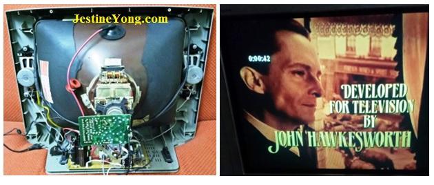 crt tv with china kit repair